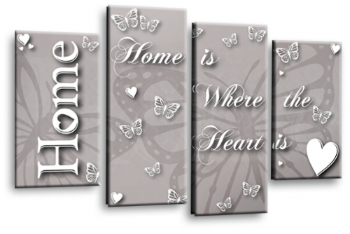 Home Quote Wall Art Picture Powder Grey Love Split Print